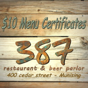 Enjoy a delicious meal at 387 Restaurant in Munising.