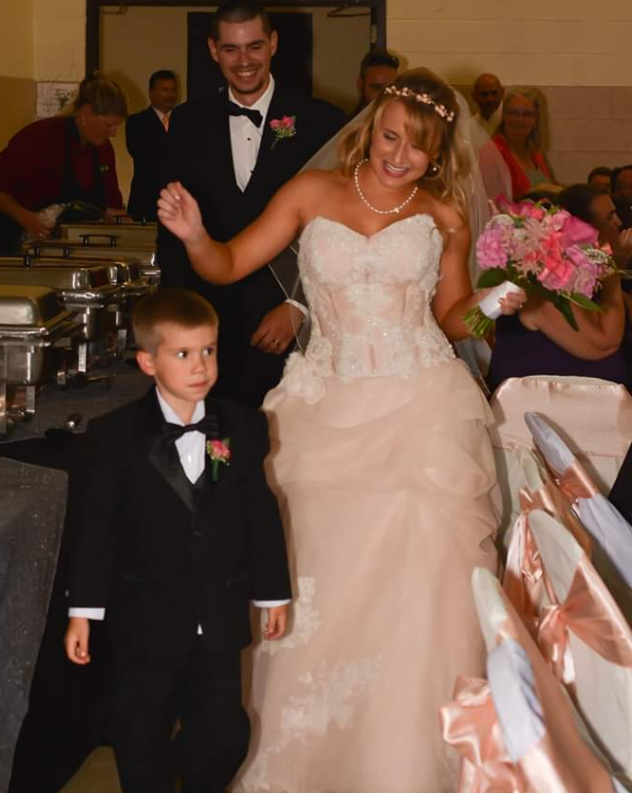 Kelsey and Cody's Wedding with their son Holden, August 5, 2017