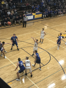 Negaunee shoots a free throw in their 56-48 defeat of the Ishpeming Hematites on 101.9 SunnyFM.