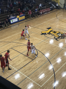Negaunee drives to the rim in their 56-47 win over Westwood on 101.9 SunnyFM.