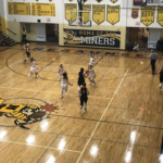 Gwinn possesses the ball in their 16 point loss to Negaunee.