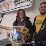 Corin Bordine with her basket from Super One Foods.