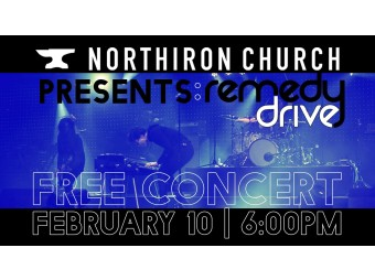 Brice Sturmer Invites All to The North Iron Church Remedy Drive Human Trafficking Concert Feb 10th