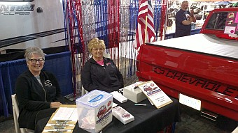 Pam Patrick and Janet Snowden of the Krusin Klassics Car Club at the 26th Annual U.P. Boat, Sport and RV Show