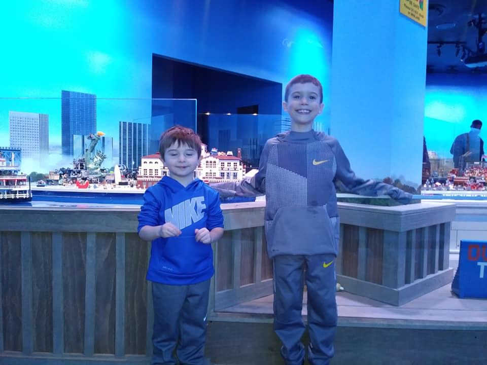 Titan and Holden at LegoLand