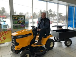 Register to win this Cub Cadet lawnmower and hauler at Frei Chevy