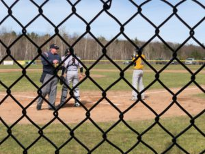 The Miners take the plate against the Escanaba Eskymos