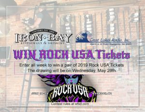 Win tickets to Rock USA or Iron Bay Swag!