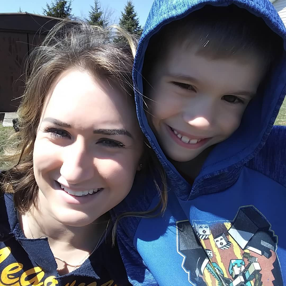 Kelsey and her son, Holden, on Mother's Day