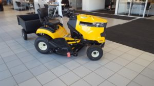 Sign up to win this Cub Cadet mower and hauler at Frei Chevy