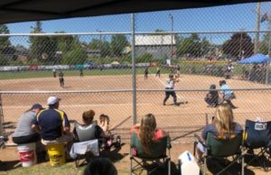 Cassidy Orr took the plate for the Negaunee Miners in their 15-0 defeat of the Gladstone Braves on Fox Sports Marquette 105.1 and 99.9FM