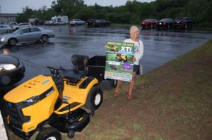 Carolyn Carl Wins the Cub Cadet Mower from Bergdahl's and Richard