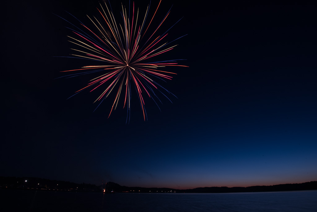 Fireworks over Teal Lake in Negaunee Mark End of 2019
