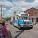 The Marquette County Transit Authority had a bus in the parade today too.
