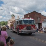 Forsyth Township Fire Department sent out an engine to join the Pioneer Days Parade.