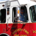 Forsyth TWP. Fire department in the Pioneer Days parade