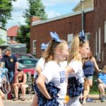 Miners Spirit squad cheers in the 2019 Pioneer Days Parade