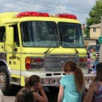 Negaunee Twp Fire Dept truck in the Pioneer Days Parade