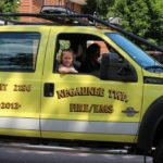 Negaunee Twp. fire and ems truck in the Pioneer Days parade