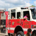 Township of Ishpeming Fire Dept. Fire truck in the parade