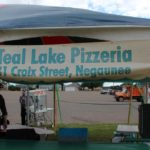 Teal Lake Pizzeria is down at Teal Lake setting up for the last day of the 2019 Pioneer Days Festival