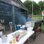 Pick up a burger or brat to eat on the way to the course.