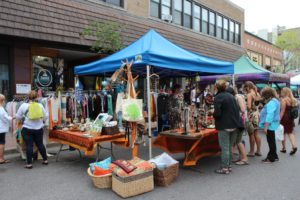 Handmade bags and jewelry being sold during the 2019 Blueberry Festival.