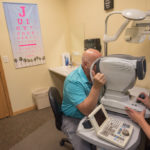 The first of the tests at Superior Eye Health.