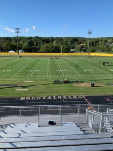 The calm before the storm: the field looked good in pregame before the Negaunee Miners squared off against the Iron Mountain Mountaineers on Sunny 101.9FM.