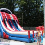 Double Trouble inflatables at Community Days!