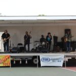 Flat Broke Blues took the stage after The Crunge to rock out with the community