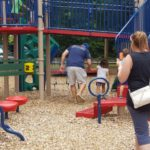 Kids enjoyed the playground at Lions Park