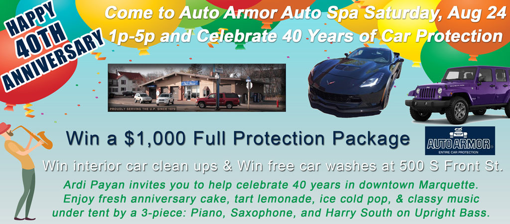 Auto Armor Celebrates 40 Years of Business in Downtown Marquette