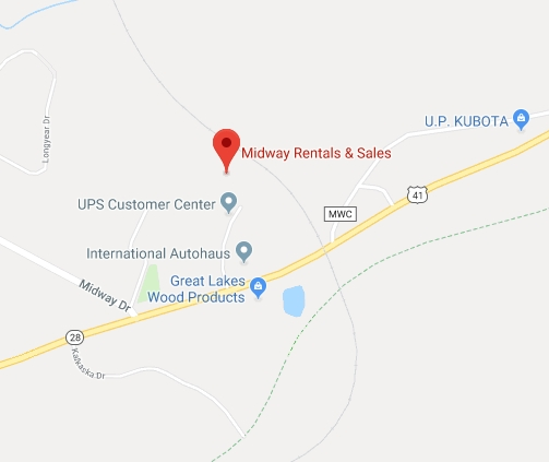 Find Midway Rental Negaunee with Google Maps