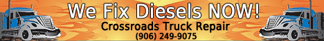 Call Crossroads Truck Repair Any time (906) 249-9075