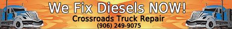 Call Crossroads Truck Repair Any time (906) 249-9075