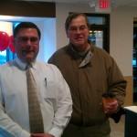 Owner Brian Wilson With Ishpeming Negaunee Chamber President Bruce Turino