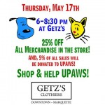 Getz's and UPAWS sale
