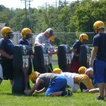 Coach Jacobson with his team