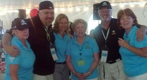 """Walt & Mike with the """"Great Golfing Gals"""" at the Beacon House golf event."""