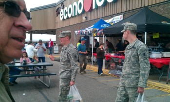 Tadych's Econo Foods is Busy during the One Day Outdoor Produce Sale in Marquette ONLY
