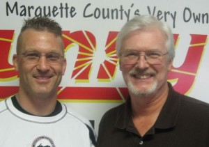 Todd Goldbeck of Xcel Fitness and Great Lakes Radio sports maven Mike Plourde.