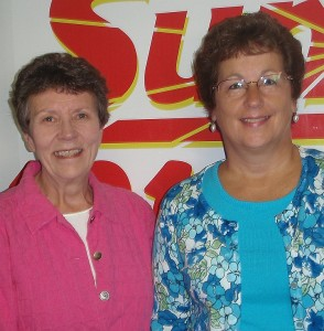 Pat Couvion and Sue Johnson of the Marquette Noon Kiwanis.