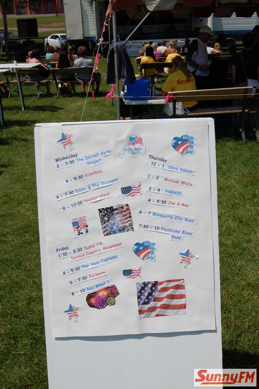 Sunny.FM Texaco Country Showdown at International Food Festival - Marquette, Michigan July 5, 2013