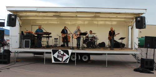 41West playing Christian songs on a Wenger Stage