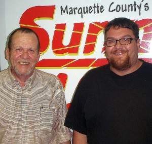 Mike Thibault and Tony Ghiringhelli with the Marquette County Labor Council.