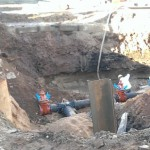 Where did the street go downtown ishpeming because this is a deep hole workers are in