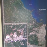 An aerial map of Marquette Township in the new Community Room