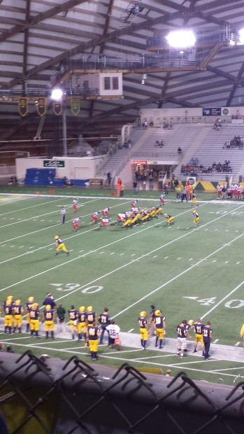 The Negaunee Miners and Boyne City Ramblers at the Superior Dome in Marquette on Sunny.FM - Friday, November 8th, 2013