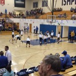Pregame warm-ups before the girls game in Ishpeming on 1/20/14.